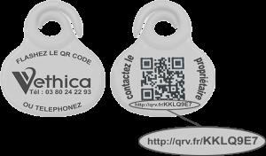 Médaille pour puce électronique VETDOM vétérinaire Narbonne