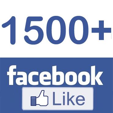 1500 likes Facebook !