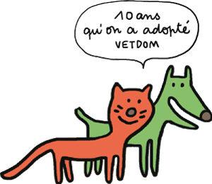VET et DOM le chien et le chat des 10 ans de VETDOM