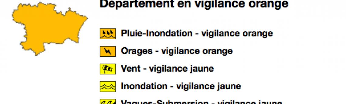 Vigilance orange Aude 23/10/2019